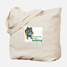 Never Too Young to Start Hiking Tote Bag