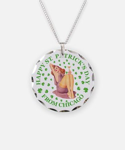 Happy St Patrick's Day Necklace