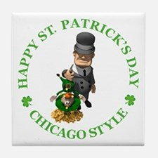 Happy St Patrick's Day Tile Coaster