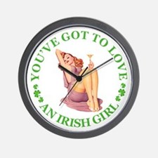 You've Got To Love an Irish Girl Wall Clock
