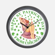 Happy St Patrick's Day Wall Clock