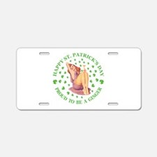 Proud To Be a Ginger Aluminum License Plate