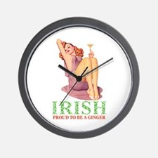 Irish - Proud To Be a Ginger Wall Clock