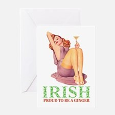 Irish - Proud To Be a Ginger Greeting Card