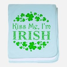 Kiss Me, I'm Irish baby blanket