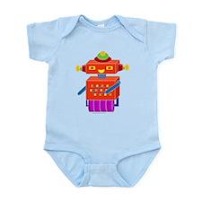 Red Button Bot Infant Bodysuit