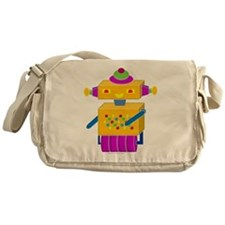 Yellow Button Bot Messenger Bag