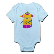 Yellow Button Bot Infant Bodysuit