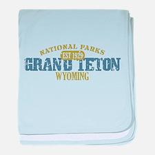 Grand Teton National Park Wyo baby blanket
