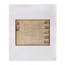 1st Class Accommodation Plans Throw Blanket
