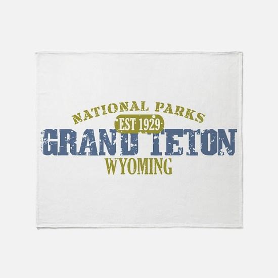 Grand Teton National Park Wyo Throw Blanket