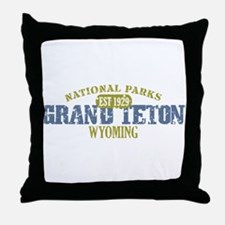 Grand Teton National Park Wyo Throw Pillow