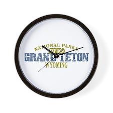 Grand Teton National Park Wyo Wall Clock