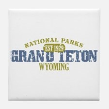 Grand Teton National Park Wyo Tile Coaster