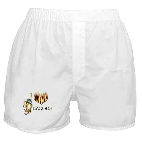 I Heart Dragons Boxer Shorts