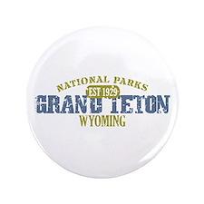 """Grand Teton National Park Wyo 3.5"""" Button"""