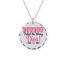 Cancer Wrong Diva Necklace Circle Charm