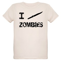 I Stab Zombies Organic Kids T-Shirt