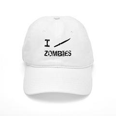 I Stab Zombies Baseball Cap
