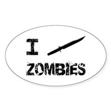 I Stab Zombies Decal