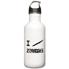 I Stab Zombies Water Bottle