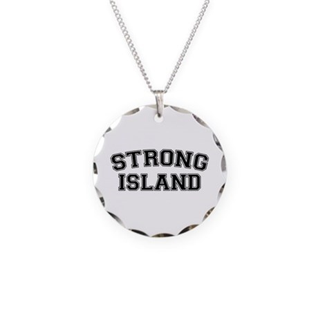 Strong Island Necklace Circle Charm