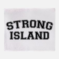 Strong Island Throw Blanket