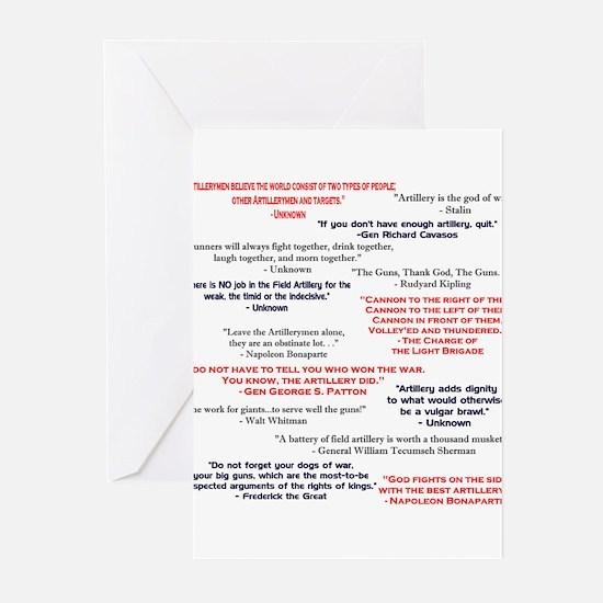 Artillery Blank Greeting Cards (Pk of 10)