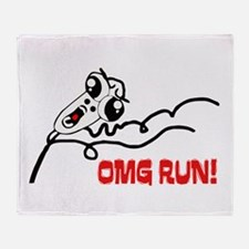 OMG RUN! Throw Blanket