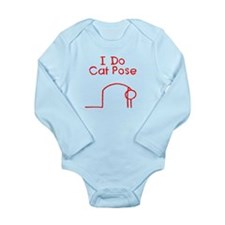 Red Cat Pose Long Sleeve Infant Bodysuit