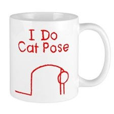 Red Cat Pose Mug