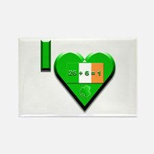 I Love Ireland 26+6=1 Rectangle Magnet