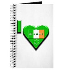 I Love Ireland 26+6=1 Journal