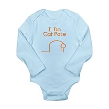 Orange Cat Pose Long Sleeve Infant Bodysuit