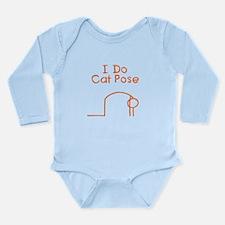Orange Cat Pose Long Sleeve Infant Bodysuit