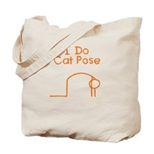 Orange Cat Pose Tote Bag