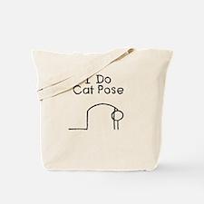 Black Cat Pose Tote Bag
