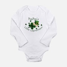 Cute Green shamrock Long Sleeve Infant Bodysuit