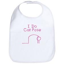 Pink Cat Pose Bib