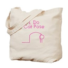 Pink Cat Pose Tote Bag