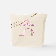 Pink Cat Pose Tote Bag