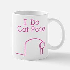 Pink Cat Pose Mug
