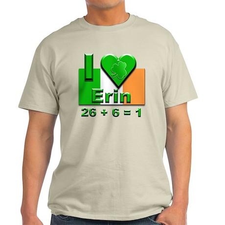 I Love Ireland 26+6=1 #2 Light T-Shirt