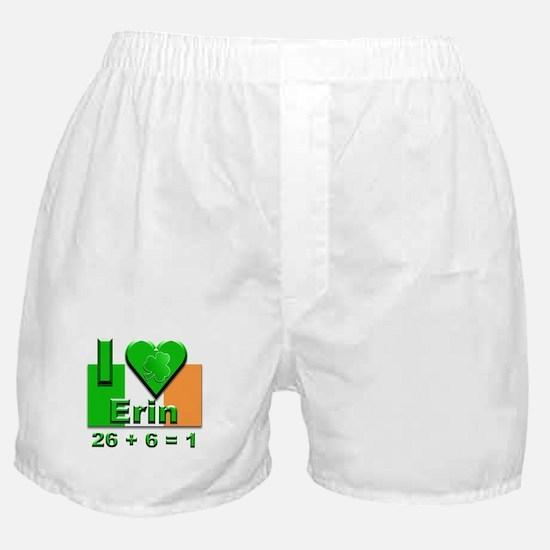 I Love Ireland 26+6=1 #2 Boxer Shorts