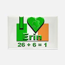 I Love Ireland 26+6=1 #2 Rectangle Magnet