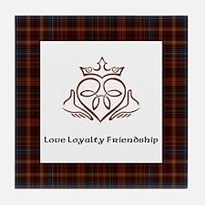 Love loyalty & friendship Tile Coaster