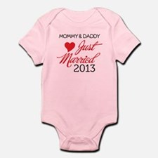 Just Married 2013 Mom and Dad Body Suit