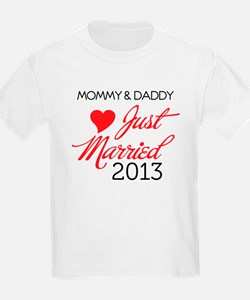 Just Married 2013 Mom and Dad T-Shirt