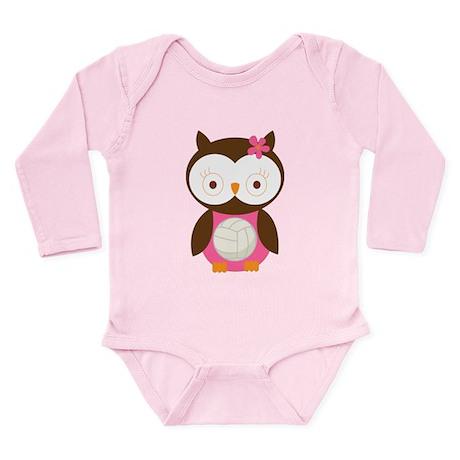 Volleyball Owl Long Sleeve Infant Bodysuit