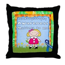 Funny Leukodystrophies Throw Pillow